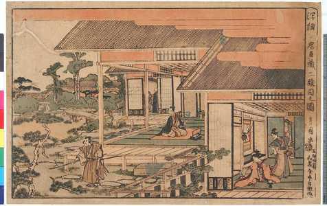 Utagawa Toyokuni I: 「浮絵 忠臣蔵二段目之図」 - Ritsumeikan University