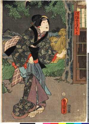 Utagawa Kunisada: 「弥作女房おかよ」 - Ritsumeikan University