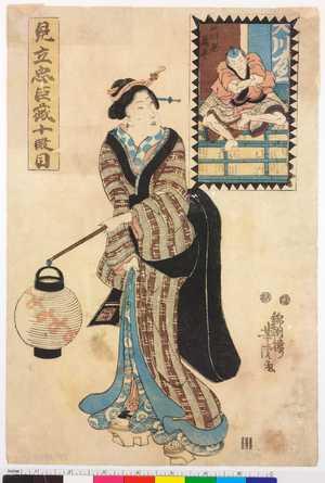 Utagawa Yoshitora: 「見立忠臣蔵十段目」 - Ritsumeikan University