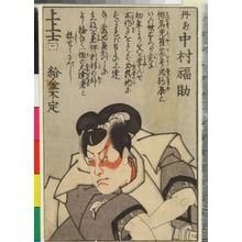 Utagawa Kunisada: 「丹前 中村福助」 - Ritsumeikan University