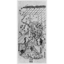 Torii Kiyonobu II: 「尾上菊五郎 市村亀蔵」 - Ritsumeikan University