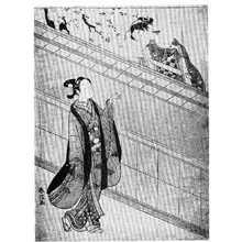 Suzuki Harunobu: (垣の桜) - Ritsumeikan University