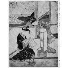 Suzuki Harunobu: (座敷八景 あんどんの夕照) - Ritsumeikan University