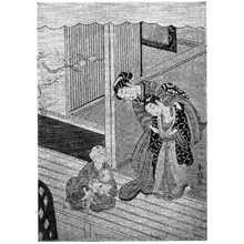 Suzuki Harunobu: (猫と子等) - Ritsumeikan University