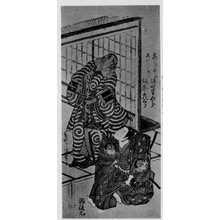 Torii Kiyomitsu: 「坂東彦三郎 志だ小太郎」「坂田半四郎 さつしまひょうご」 - Ritsumeikan University