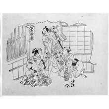 Ippitsusai Buncho: (嵐三五郎と瀬川菊之丞) - Ritsumeikan University