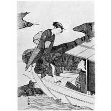 Suzuki Harunobu: (舟に乗る美人) - Ritsumeikan University