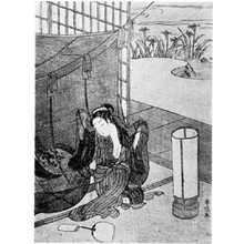 Suzuki Harunobu: (蚊帳を出る美人) - Ritsumeikan University