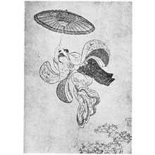 Suzuki Harunobu: (舞台から飛び降りる) - Ritsumeikan University