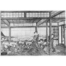 Utagawa Toyoharu: 「品川見通の図」 - Ritsumeikan University
