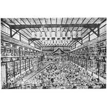 Utagawa Toyoharu: 「市村座場内図」 - Ritsumeikan University