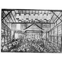 Utagawa Toyoharu: 「芝居場内図」 - Ritsumeikan University