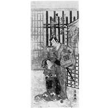 Torii Kiyotsune: 「市川八百蔵」「岩井半四郎」 - Ritsumeikan University