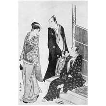 Katsukawa Shuncho: (茶見世の菊五郎と門之助) - Ritsumeikan University