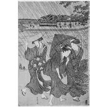 Katsukawa Shuncho: (俄か雨) - Ritsumeikan University