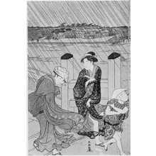 勝川春潮: (俄か雨) - 立命館大学