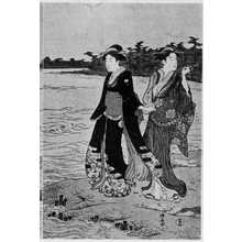 Torii Kiyonaga: 「隅田川渡船 右」 - Ritsumeikan University