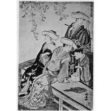 Torii Kiyonaga: 「風俗東之錦 桜の下」 - Ritsumeikan University