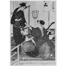 Torii Kiyonaga: (涼み床 中) - Ritsumeikan University