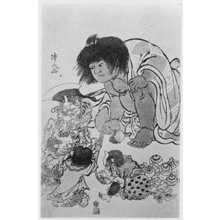 Torii Kiyonaga: (金太郎と鬼) - Ritsumeikan University