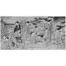 Katsukawa Shuncho: (秋の行楽) - Ritsumeikan University