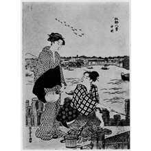 Katsukawa Shuncho: 「江戸八景 中州」 - Ritsumeikan University