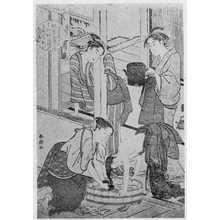 勝川春潮: (髪洗い) - 立命館大学