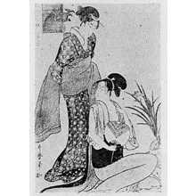 喜多川歌麿: 「風俗三段娘 下品の風」 - 立命館大学