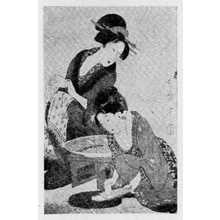 Kitagawa Utamaro: (大根を卸す美人) - Ritsumeikan University