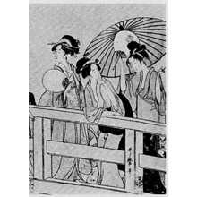 Kitagawa Utamaro: (橋上の涼み 右) - Ritsumeikan University