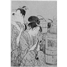 喜多川歌麿: (炊事美人 左) - 立命館大学