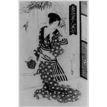 Utagawa Toyoshige: 「当世五人美女」 - Ritsumeikan University