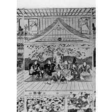 Utagawa Toyokuni I: (中村座場内浮絵 中) - Ritsumeikan University