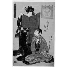 Kikugawa Eizan: 「江戸砂子香具屋八景」 - Ritsumeikan University