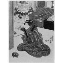 Utagawa Kunisada: 「春の稽古所 右」 - Ritsumeikan University