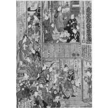 Utagawa Kunisada: 「森田座顔見世楽屋図 1」 - Ritsumeikan University