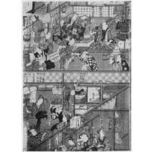 Utagawa Kunisada: 「森田座顔見世楽屋図 3」 - Ritsumeikan University