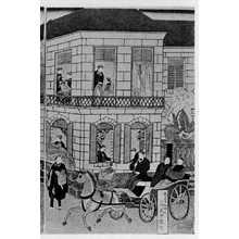 Utagawa Hiroshige II: 「横浜商館繁栄之図 右」 - Ritsumeikan University