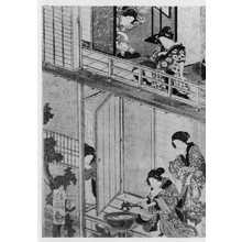 落合芳幾: (女郎部屋図 左) - 立命館大学