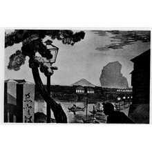 小林清親: (江戸橋夕暮富士) - 立命館大学