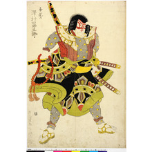 Utagawa Toyokuni I: 「弁慶 沢村四郎五郎」 - Ritsumeikan University