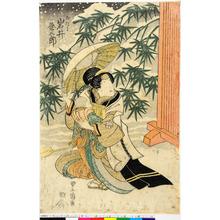 Utagawa Toyoshige: 「おたに 岩井粂三郎」 - Ritsumeikan University