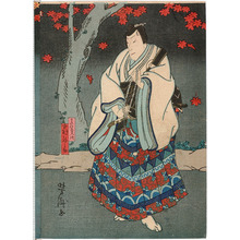 Utagawa Yoshitaki: 「真柴久次 中村駒之助」 - Ritsumeikan University