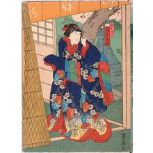 Utagawa Yoshitaki: 「娘おきく 荻野扇女」 - Ritsumeikan University