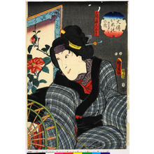 Utagawa Kunisada II: 「八犬伝いぬのさうしの内」「大輔の母こあき」 - Ritsumeikan University