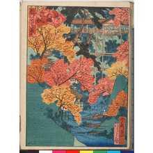 Utagawa Yoshitoyo: 「都百景」「通天橋紅楓」 - Ritsumeikan University
