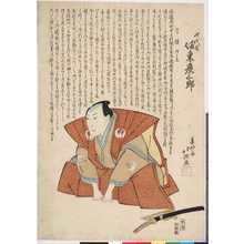 Shunkosai Hokushu: 「四代目坂東彦三郎」 - Ritsumeikan University