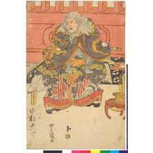 Utagawa Toyokuni I: 「ひげの伊久 中村大吉」 - Ritsumeikan University