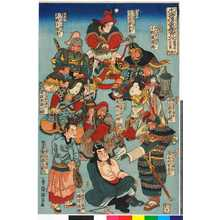 Utagawa Kuniyoshi: 「水滸伝豪傑百八人 地☆星七十二員 八枚内」 - Ritsumeikan University