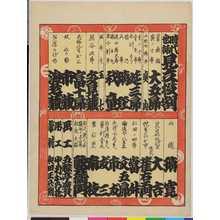 Utagawa Hirosada: 「時代世話見立役割」 - Ritsumeikan University